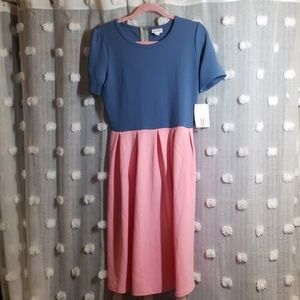 NWT LuLaRoe Amelia Colorblock Dress size M